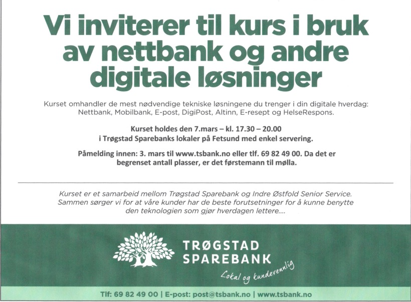 Denne annonsen sto på trykk i Indre Akershus Blad 28.2.2017
